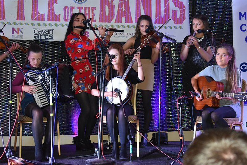Trad Group Seoda playing at the Battle of the Bands